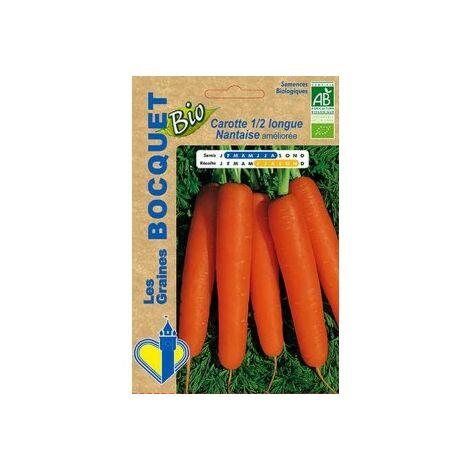 Carotte 1/2 longue nantaise améliorée Bio -certifiée ECOCERT FR-BIO-01 - 5g