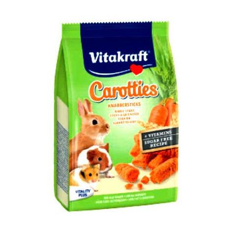 Carotties Snacks de Zanahoria para Roedores Vitakraft - 50 g