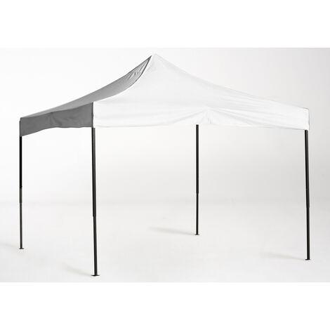 Cenador carpa para fiestas carpa 3x3m azul blanco impermeable 4 partes laterales mercado carpa para