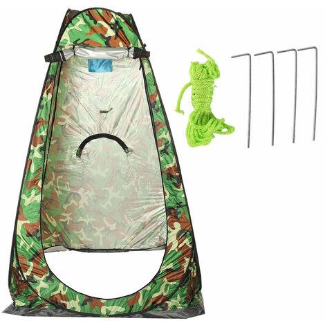 Carpa cambiador emergente portátil para exteriores, inodoro, ducha, pesca, camping (camuflaje, 120x120x190cm)
