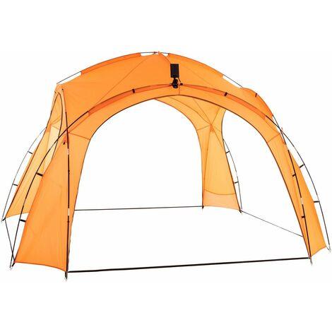 Carpa Camping 3,5 x 3,5 m Con Luces LED Naranja
