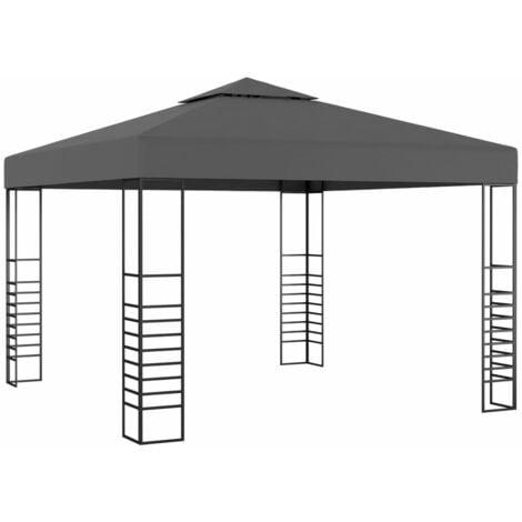 Carpa cenador de jardín gris antracita 3x3 m - Antracita