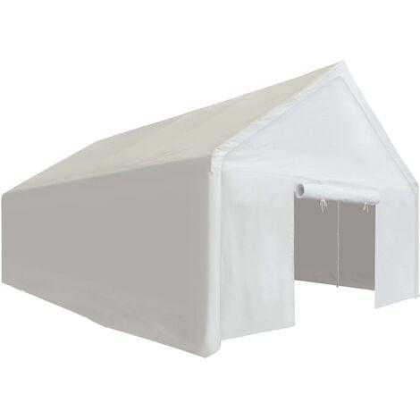Carpa de almacenamiento PE blanca 4x8 m