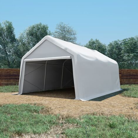 Carpa de almacenamiento PVC blanca 550 g/m² 4x6 m - Blanco