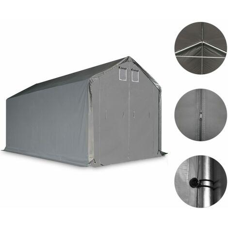 Carpa de almacenamiento PVC gris 3x6 m
