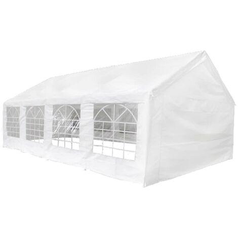 Carpa de fiesta blanca 8x4 m