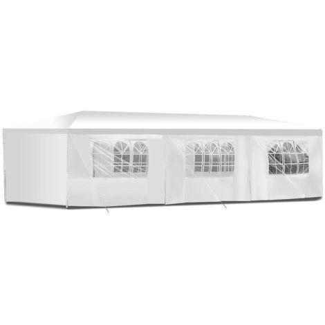 Carpa de fiesta blanca / Gazebo para ferias y mercados 3x9 impermeable