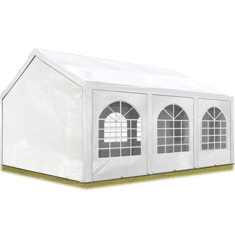 Carpa de fiesta de alta calidad 3x6 m carpa para fiestas 240g/m² carpa de lona PE carpa de jardín carpa para fiestas blanca impermeable - bianco