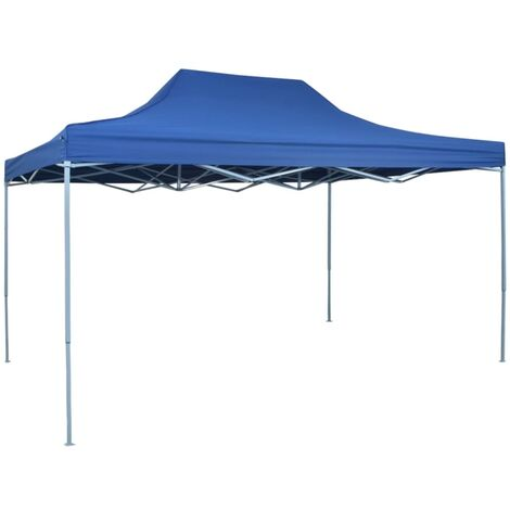 Carpa de fiesta plegable profesional acero azul 3x4 m