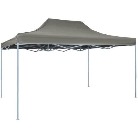 Carpa de fiesta plegable profesional acero gris antracita 3x4 m