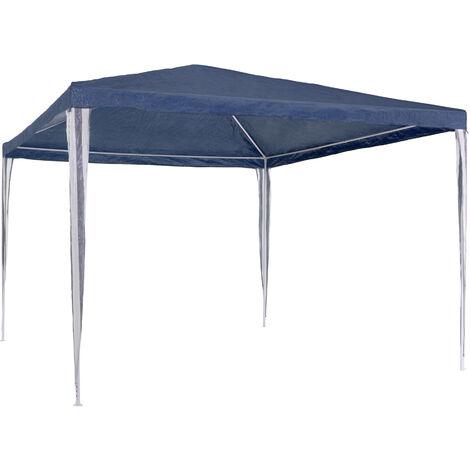 Carpa de jardín 3x3m - cenador de jardín con piquetas, carpa para fiestas con estructura robusta, gazebo plegable con anclaje al suelo