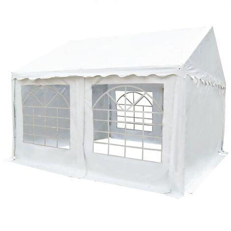 Carpa de jardín de PVC 3x4 m blanco