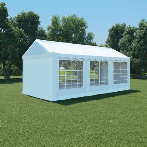 Carpa de jardín de PVC 3x6 m blanco