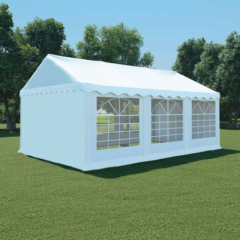 Carpa de jardín de PVC 4x6 m blanco