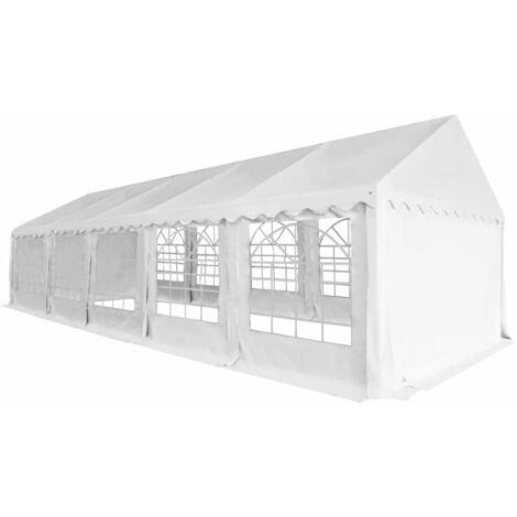 Carpa de jardín de PVC 5x10 m blanco