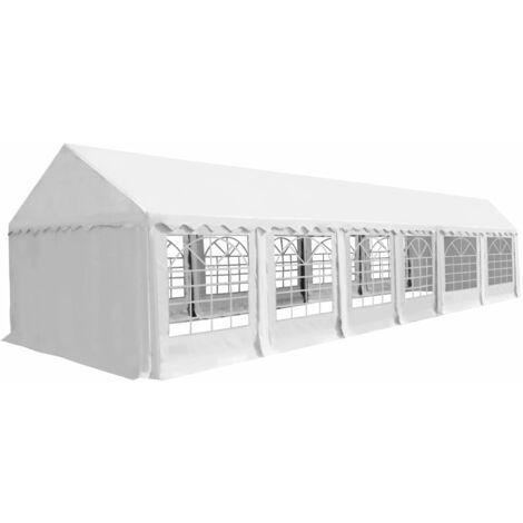 Carpa de jardín de PVC 6x12 m blanco