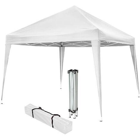 Carpa de jardín plegable 3x3m - cenador de jardín con piquetas, carpa para fiestas con estructura robusta, gazebo con anclaje al suelo con bolsa