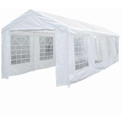 Carpa de recepción Celia de polietileno - 25.81 m² - 890 x 290 x 270/200 cm