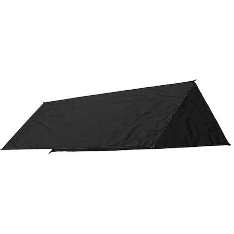 Carpa de sombra a prueba de agua Canopy Sun Shelter Outdoor Beach Camping 300X300cm Black