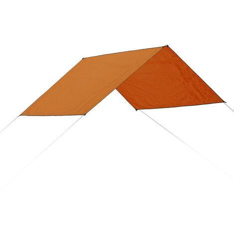 Carpa de sombra a prueba de agua Canopy Sun Shelter Outdoor Beach Camping 300X300cm Orange