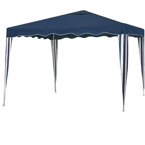 Carpa desmontable para camping o playa azul de 300x300 cm Garden