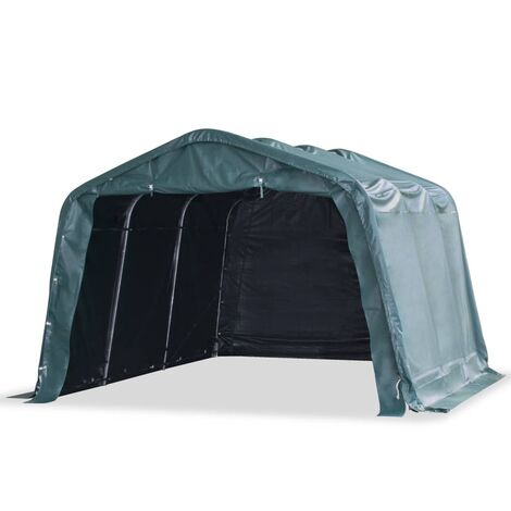 Carpa ganado desmontable PVC verde oscuro 550 g/m² 3,3x4,8 m