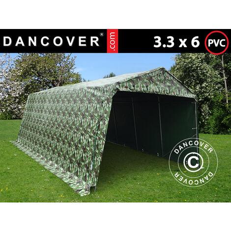 Carpa garaje PRO 3,3x6x2,4m PVC, Camuflaje
