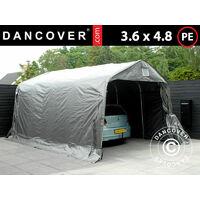 Carpa garaje PRO 3,6x4,8x2,68m, PE, Gris