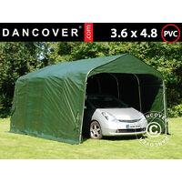 Carpa garaje PRO 3,6x4,8x2,68m, PVC, Verde