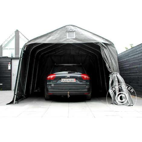 Carpa garaje PRO 3,6x7,2x2,68m PE, Gris