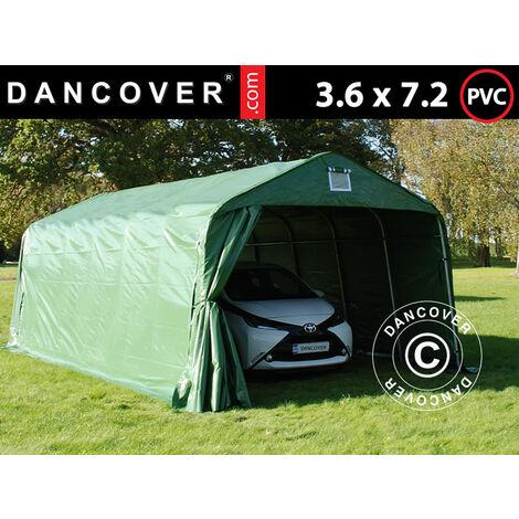 Carpa garaje PRO 3,6x7,2x2,68m PVC, Verde