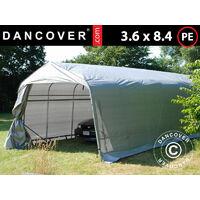 Carpa garaje PRO 3,6x8,4x2,68m PE, Gris