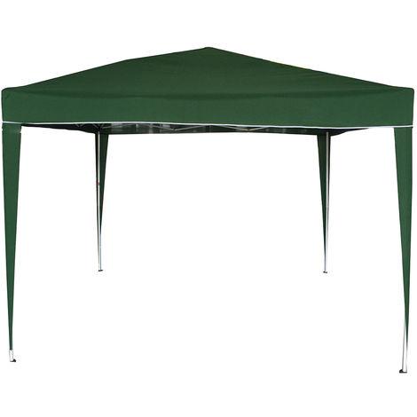 Carpa instantánea para camping / barbacoa plegable 3 x 3 m - verde