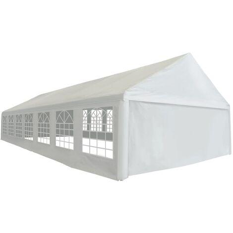 Carpa para celebraciones PE blanca 6x14 m