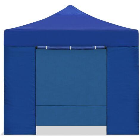 Carpa plegable 3x3 impermeable, carpas para exteriores, eventos y celebraciones, altura ajustable en 5 posiciones, 4 paredes y 1 puerta con proteccion UV, cenador plegable ideal para jardin o terraza