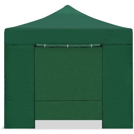 Carpa plegable 3x3m impermeable eventos plegado facil color Verde -McHaus