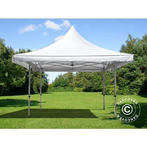 Carpa plegable Carpa Rapida FleXtents Pagoda Xtreme 50 4x4m / (5x5m) Blanco