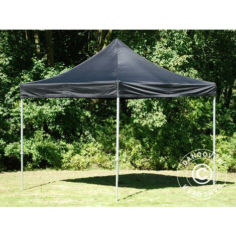 Carpa plegable Carpa Rapida FleXtents PRO 3x3m Negro, Ignífuga