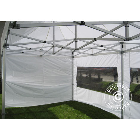 Carpa plegable Carpa Rapida FleXtents PRO 3x6m Blanco, Ignífuga, Incl. 6 lados