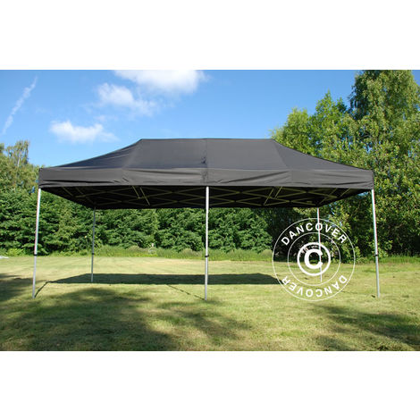 Carpa plegable Carpa Rapida FleXtents PRO 3x6m Negro, Ignífuga
