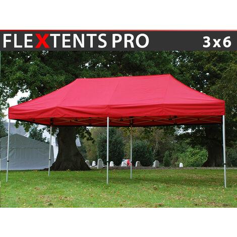 Carpa plegable Carpa Rapida FleXtents PRO 3x6m Rojo