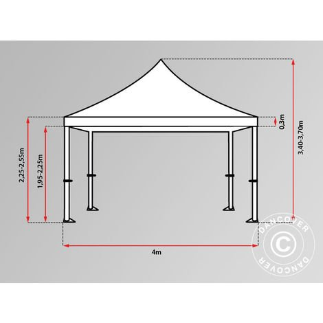 Carpa plegable Carpa Rapida FleXtents PRO 4x4m Rayado