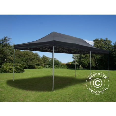 Carpa plegable Carpa Rapida FleXtents PRO 4x8m Negro