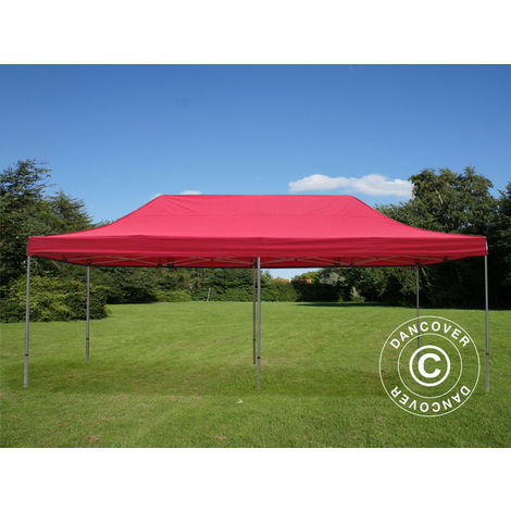 Carpa plegable Carpa Rapida FleXtents PRO 4x8m Rojo