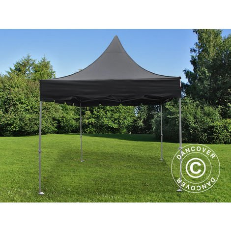 Carpa plegable Carpa Rapida FleXtents PRO Peak Pagoda 3x3m Negro
