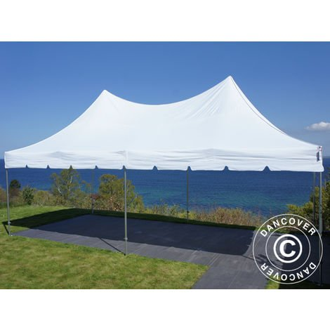 Carpa plegable Carpa Rapida FleXtents PRO Peak Pagoda 4x8m Blanco