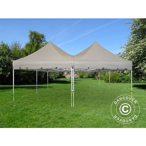Carpa plegable Carpa Rapida FleXtents PRO Peak Pagoda 6x6m, Latte
