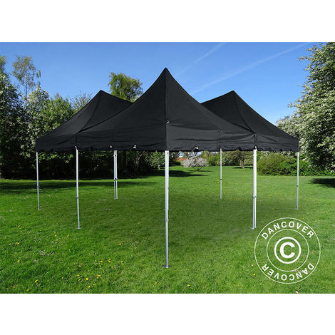 Carpa plegable Carpa Rapida FleXtents PRO Peak Pagoda 6x6m, Negra