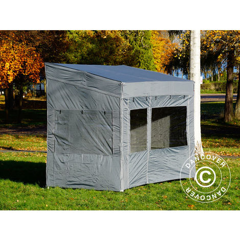 Carpa plegable Carpa Rapida FleXtents PRO Trapezo 3x3m Gris, Incl. 4 lados