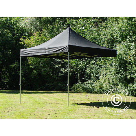 Carpa plegable Carpa Rapida FleXtents Steel 3x3m Negro